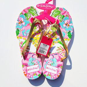 Lilly Pulitzer Flip Flops, size 7